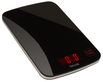 Taylor Digital Glass Kitchen Scale - Black