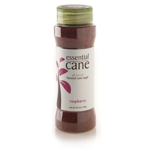 Essential Cane Raspberry Flavored Cane Sugar, 5-Ounce Jars (Pack of 3)