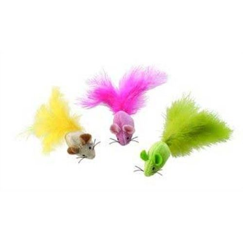 Ethical Plush Fantastc Feathers Mouse Catnip Cat Toy