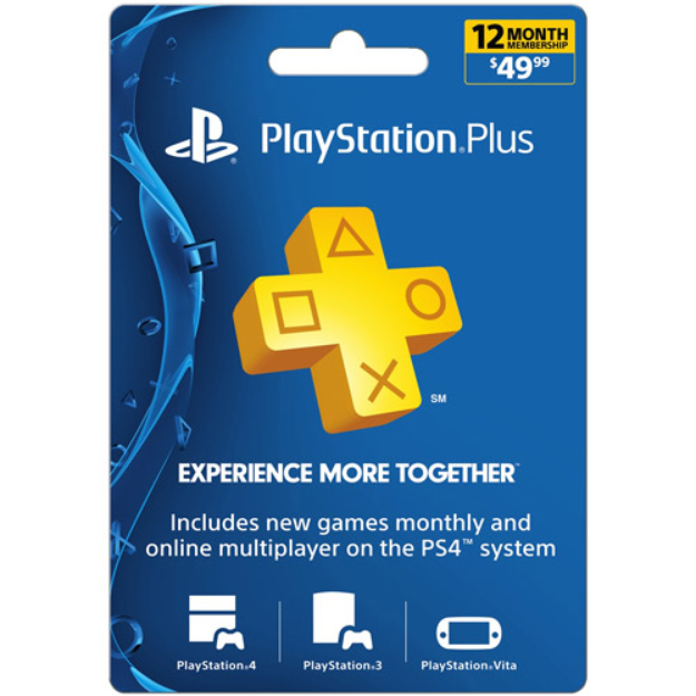 Sony PlayStation 4 12-Month Playstation Plus Membership Card
