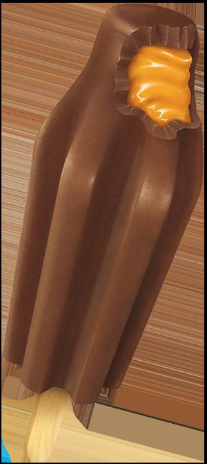 Bomb Pop Middles Chocolate Caramel Sundae