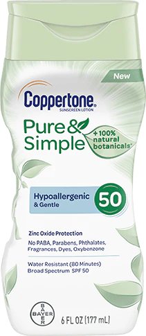 Coppertone Pure & Simple Adult SPF 50 Sunscreen Lotion