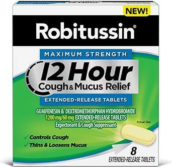 Robitussin Maximum Strength 12 Hour Cough & Mucus Extended-Release Tablets