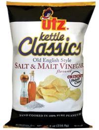 Utz Kettle Classics Salt & Malt Vinegar Flavored Potato Chips