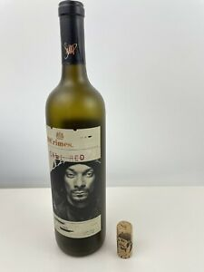 19 Crimes Empty Wine Bottle With Snoop Dogg Label. Cali Red. Cork Included