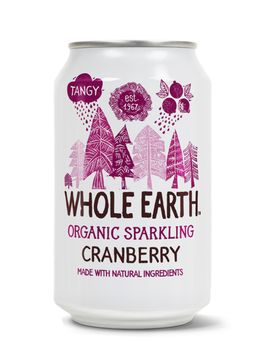 Whole Earth Organic Sparkling Drink Cranberry