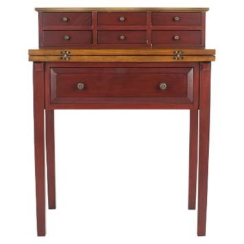Writing Desk: Safavieh Writing Desk Red