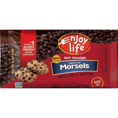 Enjoy Life Dark Chocolate Regular Size Morsels, 9 oz, (Pack of 12)
