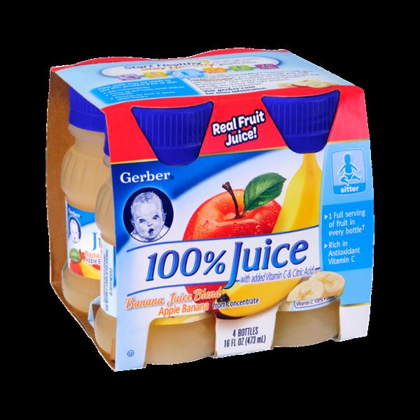 Gerber® 100% Apple Banana Blend Juice