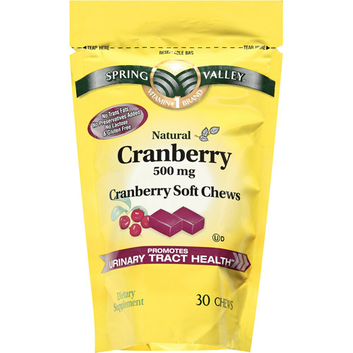 Spring Valley Natural Cranberry 500mg Dietary Supplement