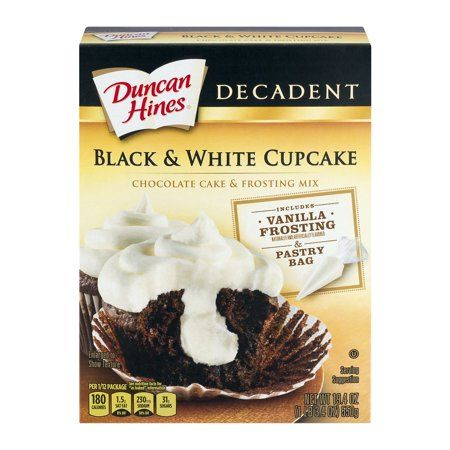 Duncan Hines® Decadent Black And White Cupcake Cake And Frosting Mix 19.4 Oz.