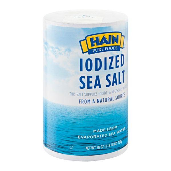 Hain Pure Foods Sea Salt Iodized