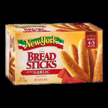 New York Brand Original Bread Sticks with Real Garlic - 6 CT