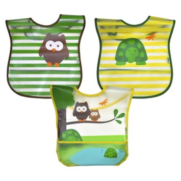 Green Sprouts green sprouts 3 Pack Bib - Woodland