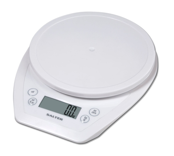 Salter 1020 Aquatronic Electronic Kitchen Scale - White