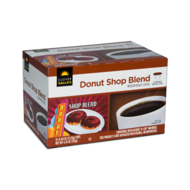 Clover Valley Donut Shop Single Serve Cups - 12 Pack