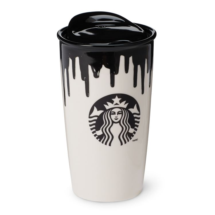 Band of Outsiders Double Wall Ceramic Traveler - Black, 12 fl oz Starbucks Drinkware