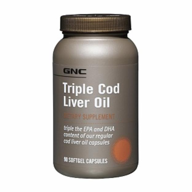 GNC Triple Cod Liver Oil, Softgel Capsules, 90 ea