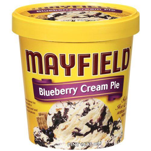 Mayfield Blueberry Cream Pie Ice Cream, 1 pt