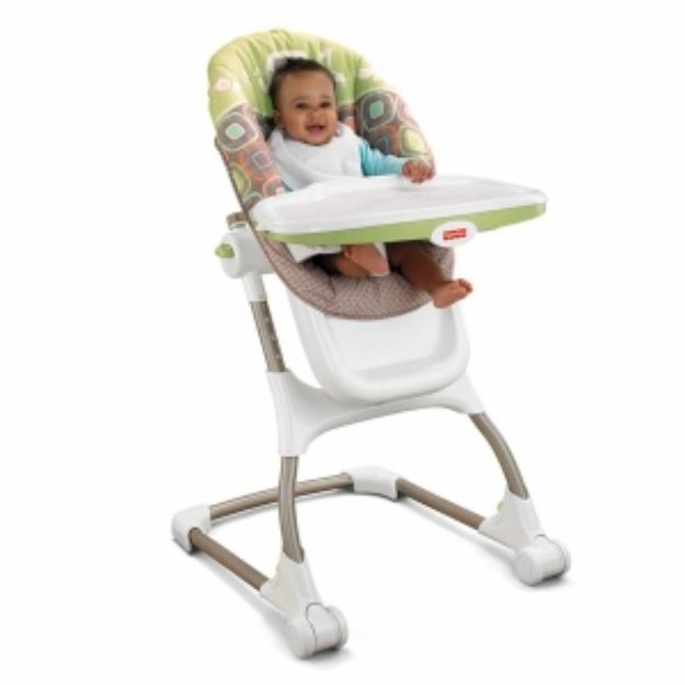 Fisher-Price Coco Sorbet EZ Clean High Chair, Brown and Tan, 1 ea