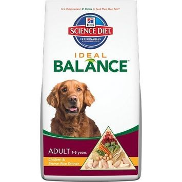 Hill's Science Diet  Hill's Science Diet Ideal Balance Adult Chicken and Brown Rice Dinner Dry Dog Food Bag, 4-Pound