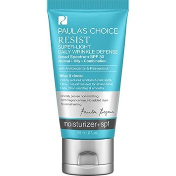 Paula's Choice Resist Super-Light Daily Defense SPF 30 Tinted Matte Moisturizer with Antioxidants and Resveratrol - 2 oz