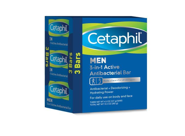 Cetaphil Men 3-in-1 Active Antibacterial Bar