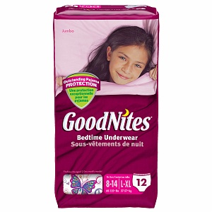 Goodnites Girls Underpants for Nighttime