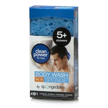 Spongeables Men's Shower Gel in a Sponge 5+