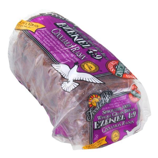 Food For Life Ezekiel 4:9 100% Sprouted Whole Grain Bread Cinnamon Raisin