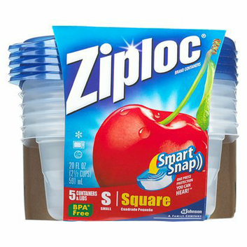 Ziploc Small Square Containers 5 ct