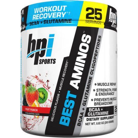 BPI Sports Best Aminos Fruit Punch Muscle Recovery Dietary Supplement Powder, 8.82 oz