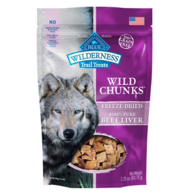 THE BLUE BUFFALO CO. BLUE™ Wilderness® Trail Treats® Beef Liver Wild Chunks™ Dog Treats