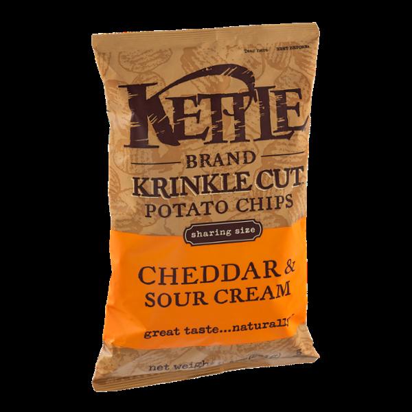 Kettle Brand®  Krinkle Cut Cheddar & Sour Cream Potato Chips
