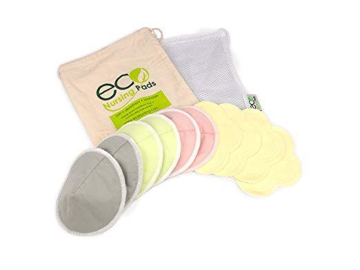 eco Nursing Pads Contoured Washable Reusable Bamboo Nursing Pads