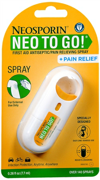 Neosporin Neo To Go! First Aid Antibiotic/Pain Relieving Ointment Spray
