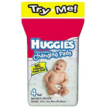 Huggies® Disposable Changing Pads Big Protection Travels Small