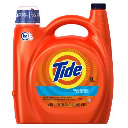 Tide HE Turbo Clean Liquid Laundry Detergent , Clean Breeze Scent