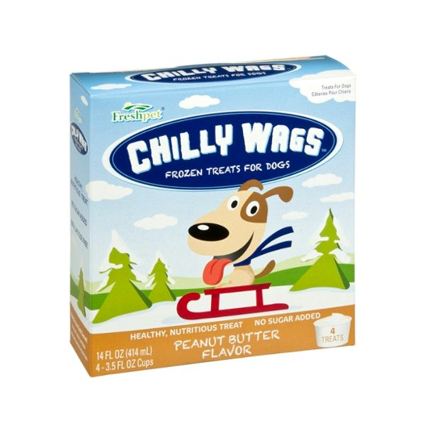 Freshpet® CHILLY WAGS® PEANUT BUTTER FLAVOR FROZEN TREATS FOR DOGS