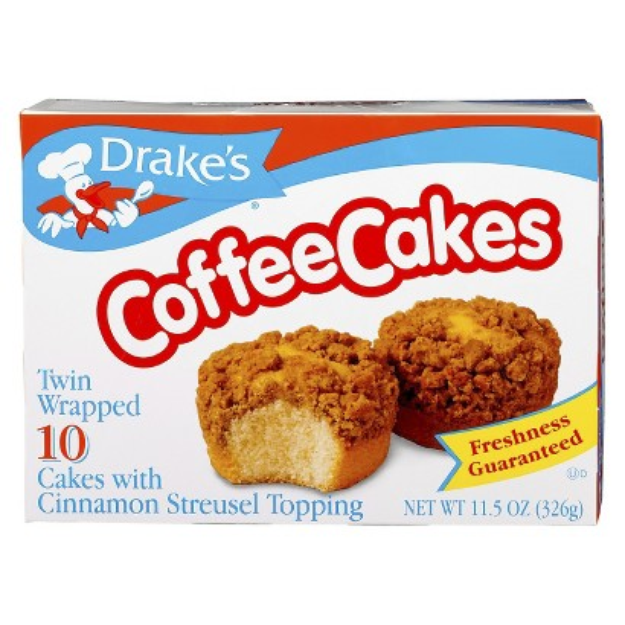 Drake's Coffee Cakes with Cinnamon Streusel Topping 11.5 oz