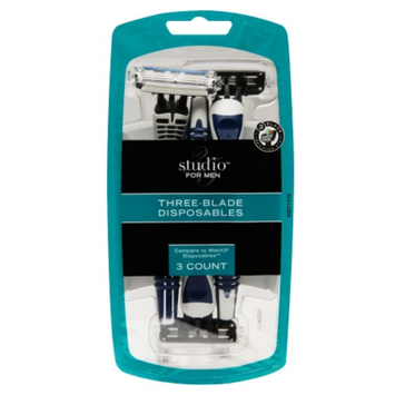 Studio 35 For Men Three-Blade Disposable Razors