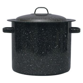 GraniteWare Stock Pot - 15.5 Quart (Black)