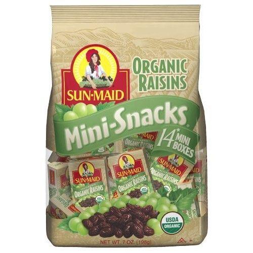 Sun-Maid Sun Maid California Organic Raisins, 7-Ounce (Pack of 6)