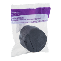 PartyExpress Crepe Paper Streamer Black