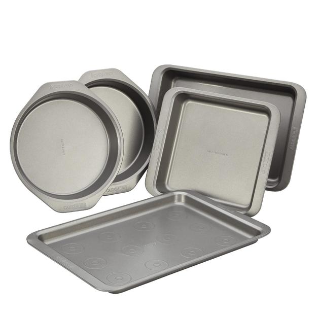 Cake Boss 5-Piece Bakeware Set, Gray