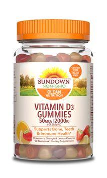 Sundown Naturals Vitamin D3 Gummies 2000