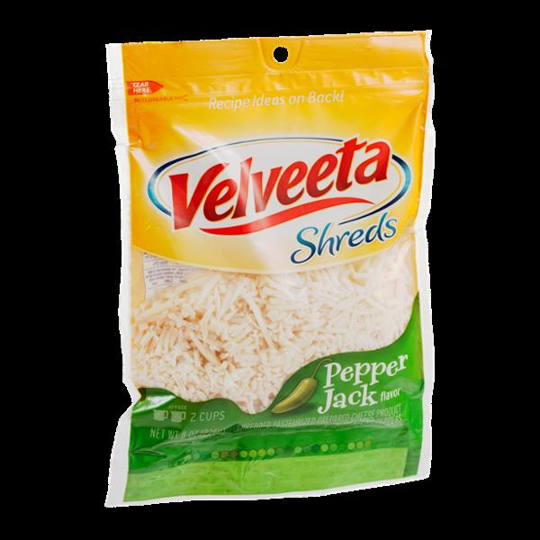 Velveeta Shreds Shredded Cheese Pepper Jack Flavor