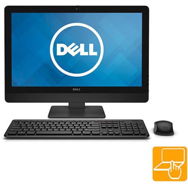 "Dell Black Inspiron 5348 All-In-One Desktop PC with Intel Core i7-4790S Processor, 12GB Memory, 23"" Touchscreen, 1TB Hard Drive and Windows 8.1"