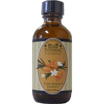 Totonac Pure Almond Extract, Net 2 fl oz. bottles (Pack of 4)