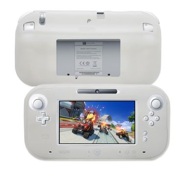 Fosmon Durable Silicone Protector Case Cover for Nintendo Wii U GamePad - Clear